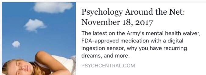 Psychology News – Week of Nov 18th